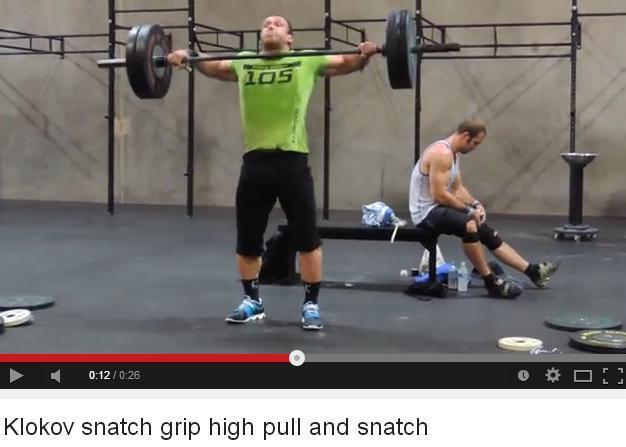 Klokov snacth grip high pull and snacth