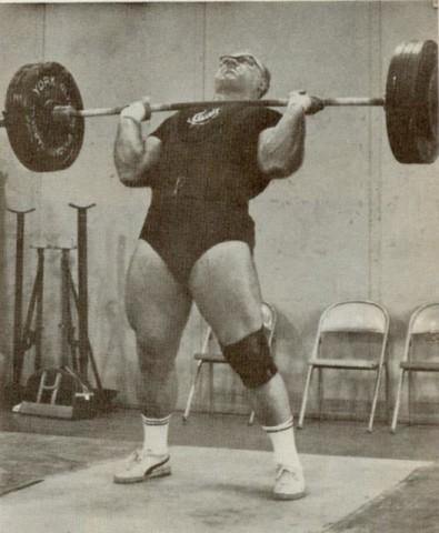 Vlaszov amerikai riválisa Norbert Schemansky edzésen