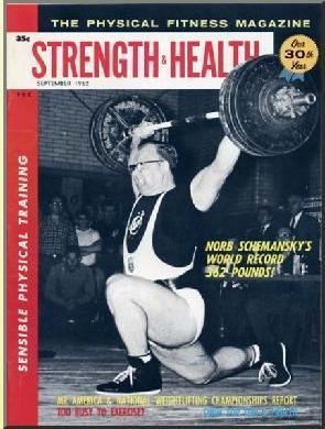Schemansky számára nem újdonság egy klasszikus fitnessmagazin borítóján szerepelni. Ezúttal világcsúcsjavítása apropóján népszerűsítik a testedzést a nyugaton.