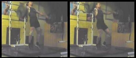 A felhúzás (1. kép) és a támasz nélküli szakasz (2. kép).