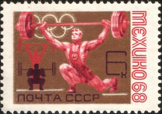 Ollózva szakítást ábrázoló bélyeg a Szovjetunióból 1968